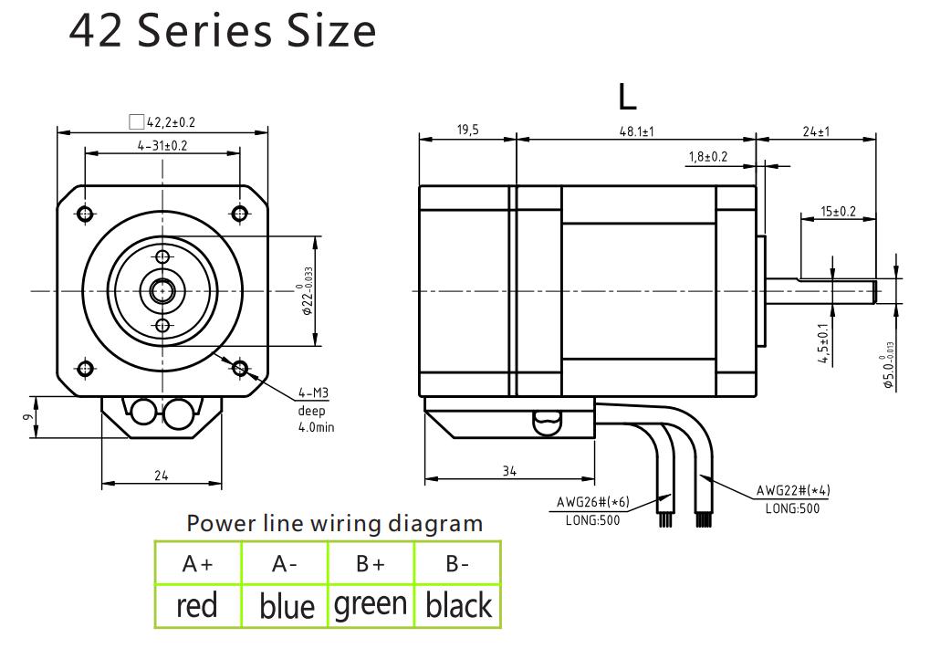 G-1-4 Closed loop stepping motor 42BG04-EC 42BG06-EC-1