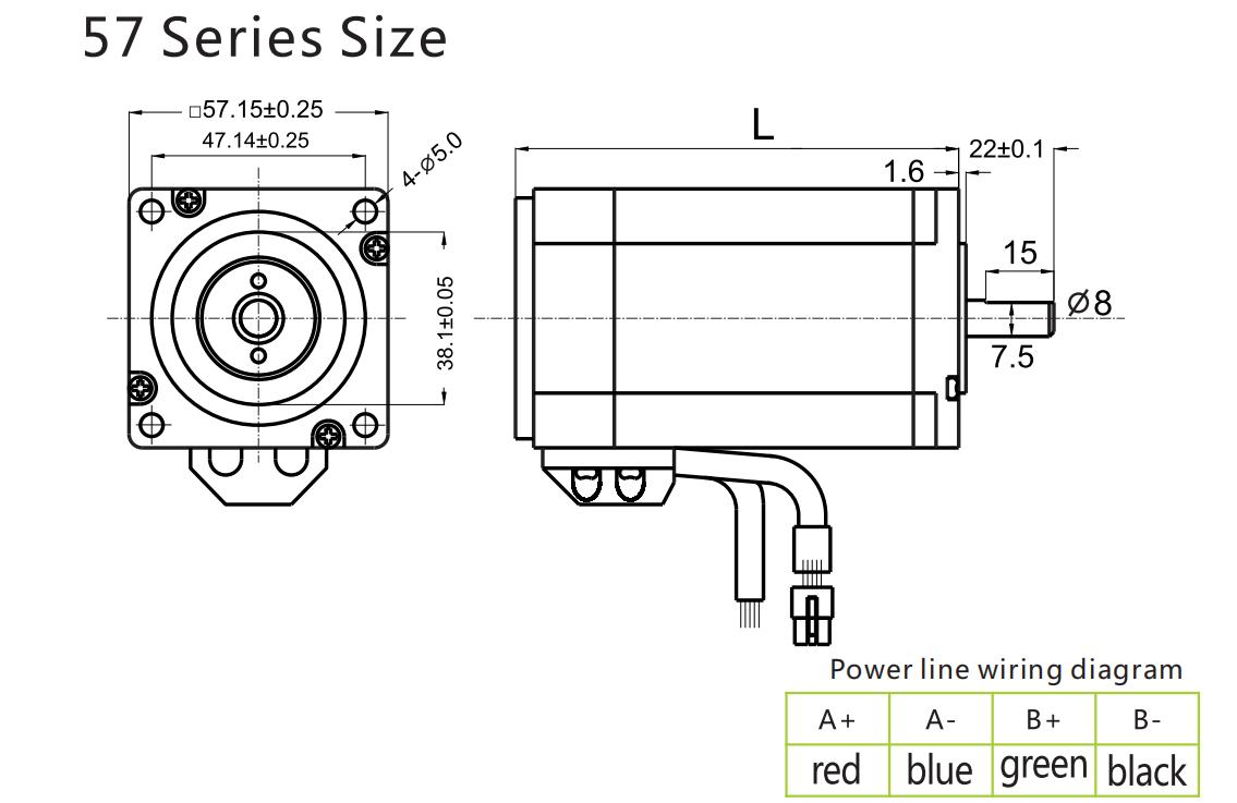 G-1-5 Closed loop stepping motor 57BG10-EC 57BG20-EC-1