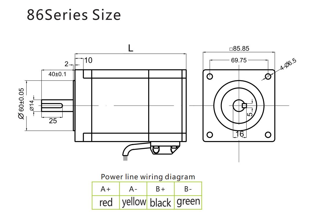G-1-7 Closed loop stepping motor 86BG40-EC 86BG80-EC 86BG120-EC-1